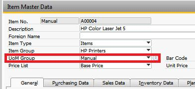 Multiple Unit of Measure in SAP Business One 9 0